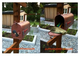 Up-cycled Mailbox garden storage